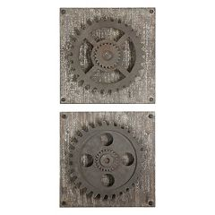 Rustic Gear 2 pc Wall Art Set