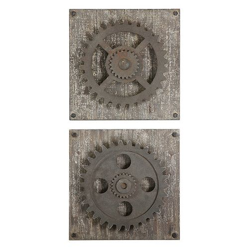 Rustic Gear 2-piece Wall Art Set