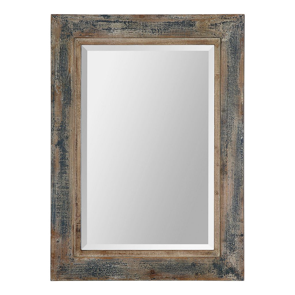 Bozeman Distressed Beveled Wall Mirror