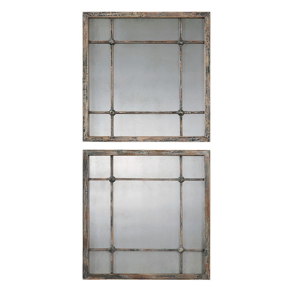 Uttermost Saragano 2-piece Square Wall Mirror Set