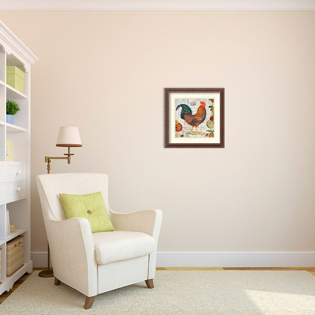 ''Rooster I'' Framed Wall Art