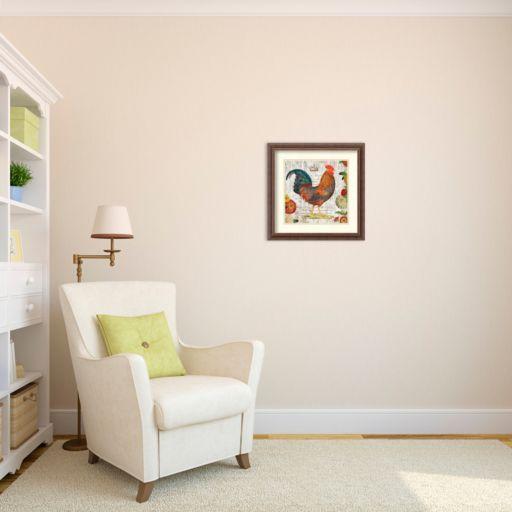 ''Rooster I'' Framed Wall Art