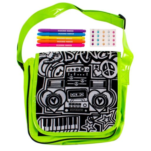 Just My Style Neon Messenger Bag