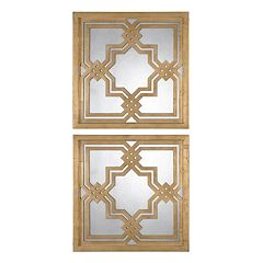Piazzale 2 pc Square Wall Mirror Set