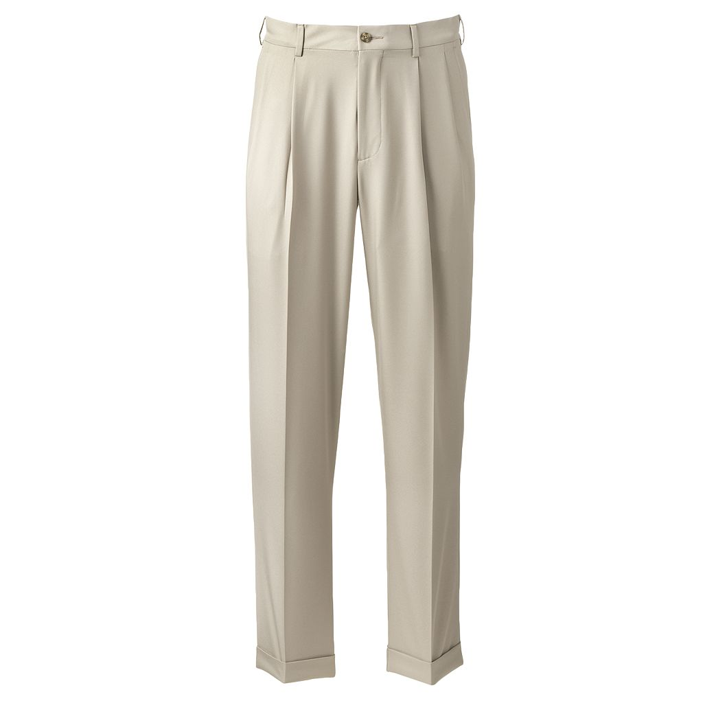 Men's Grand Slam Performance Easy-Care Double-Pleated Golf Pants