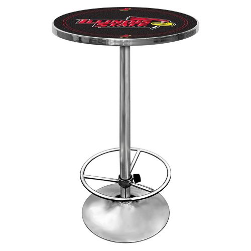 Illinois State Redbirds Chrome Pub Table