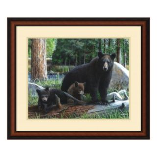 'New Discoveries'' Bear and Cubs Framed Wall Art
