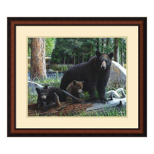 'New Discoveries'' Bear & Cubs Framed Wall Art