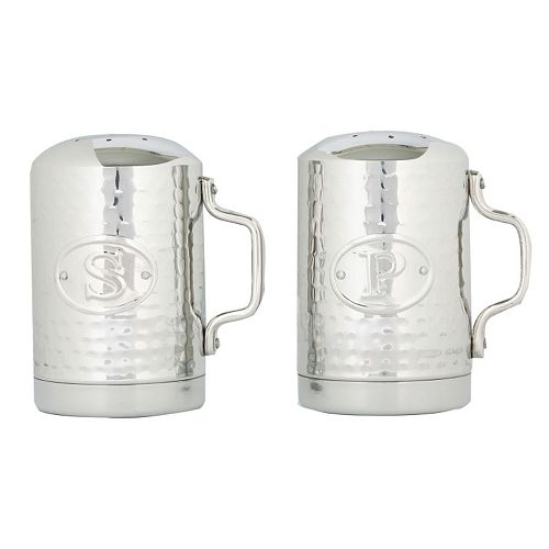 Old Dutch Stainless Steel Hammered Salt & Pepper Shaker Set