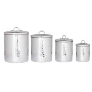 Old Dutch 4-pc. Stainless Steel Canister Set