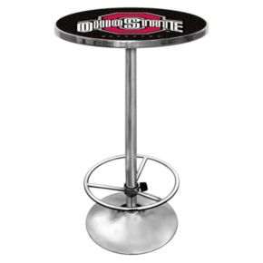 Ohio State Buckeyes Chrome Pub Table