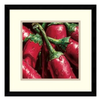 ''Hot Peppers'' Framed Wall Art
