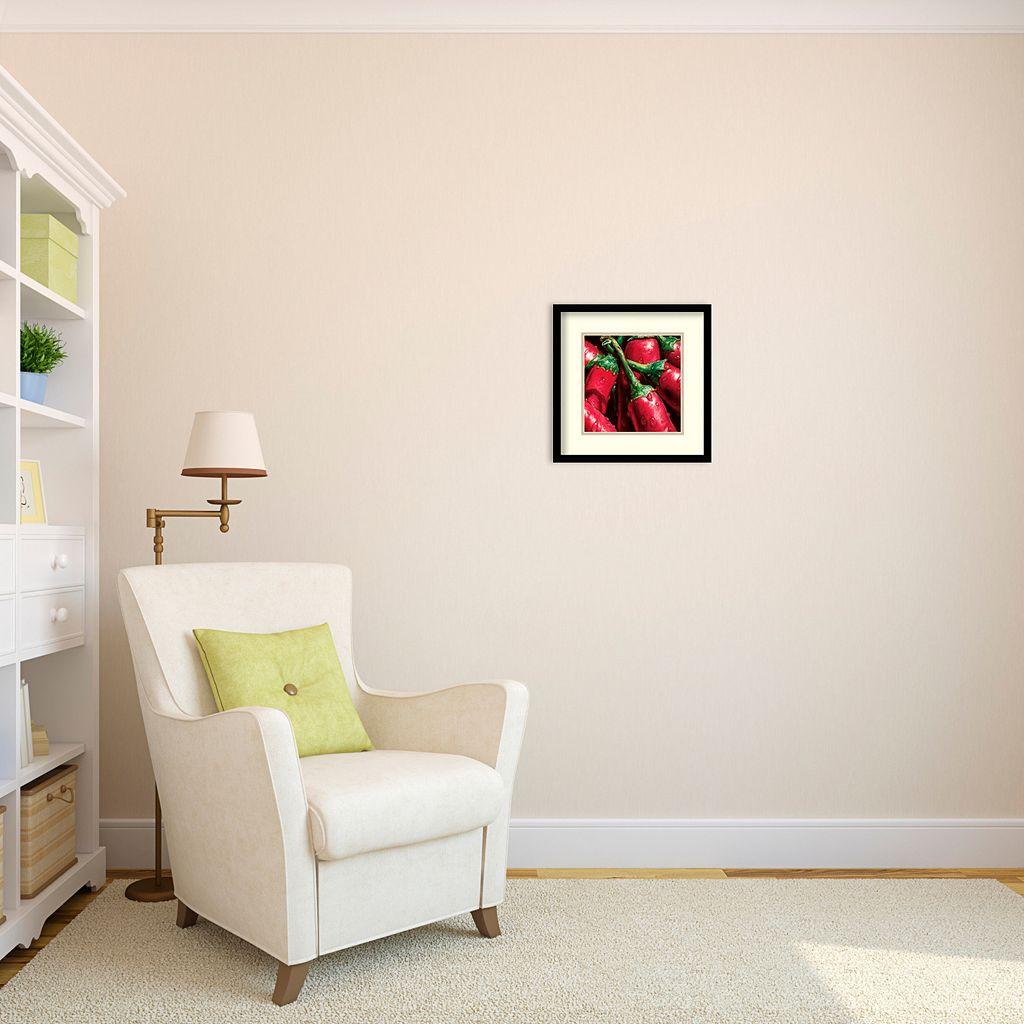 ''Hot Peppers'' Framed Wall Art
