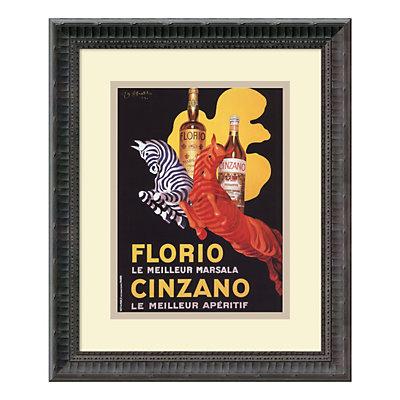 ''Florio e Cinzano'' Framed Art Print by Leonetto Cappiello