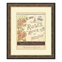 ''French Seed Packet I'' Floral Paris Framed Wall Art