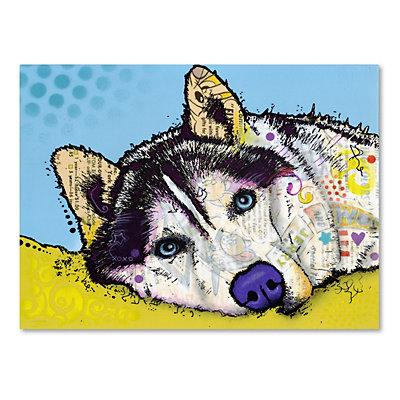 35'' x 47'' ''Siberian Husky II'' Canvas Wall Art