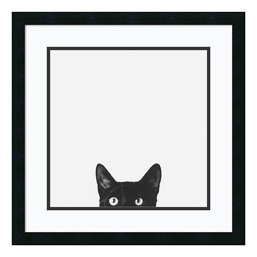 ''Curiosity'' Cat Framed Wall Art
