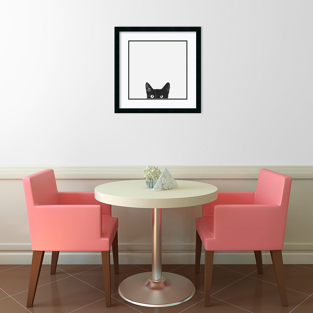 ''Curiosity'' Cat Framed Wall Art