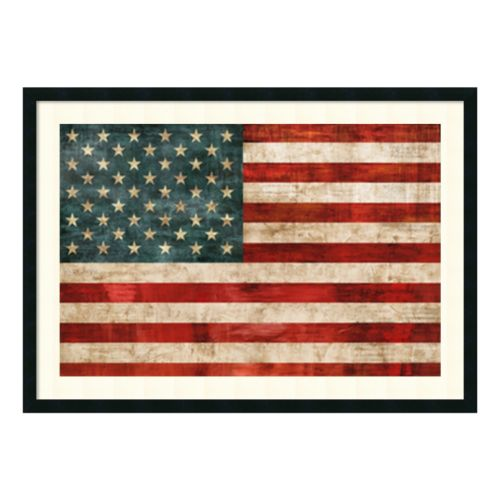 ''Allegiance'' American Flag Framed Wall Art