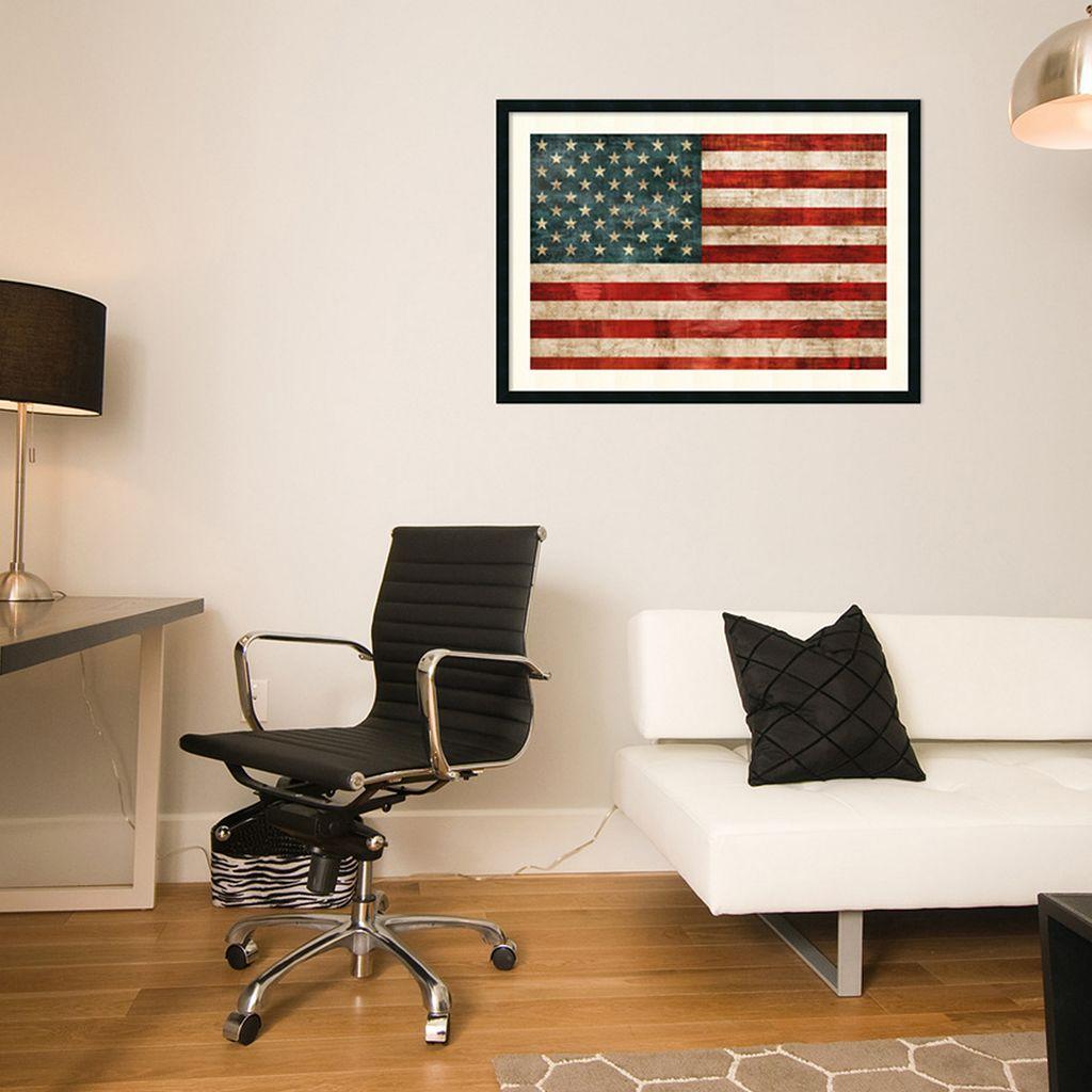 ''Allegiance'' American Flag Framed Wall Art