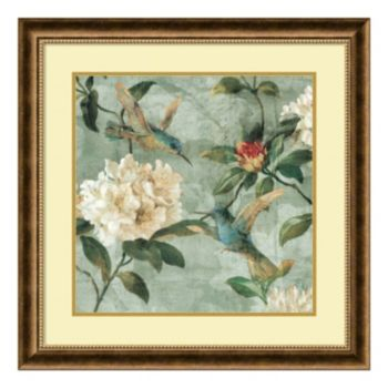 ''Birds of a Feather I'' Floral Framed Wall Art