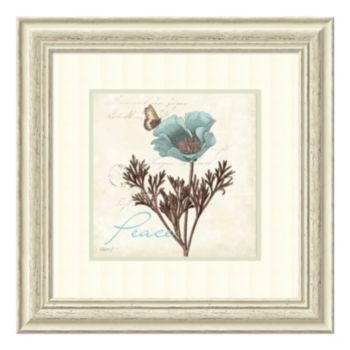 ''Touch of Peace'' Floral Framed Wall Art