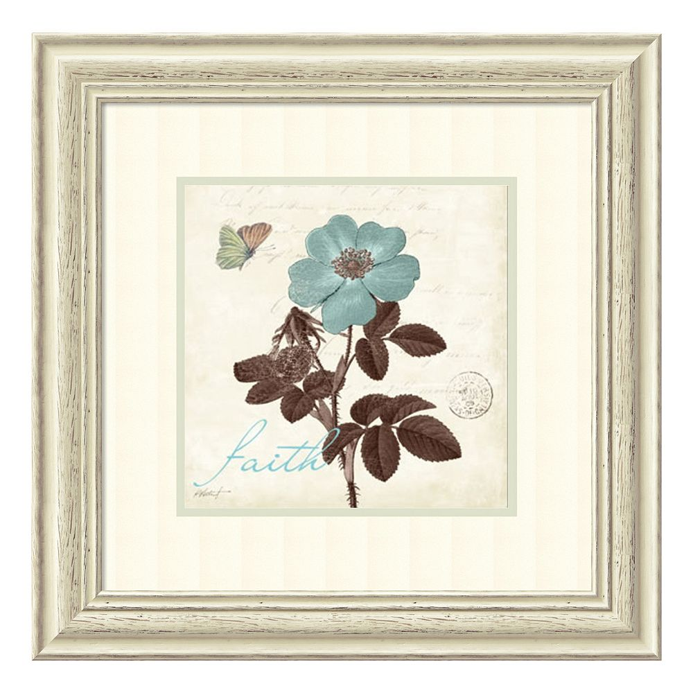 ''Touch of Faith'' Floral Framed Wall Art