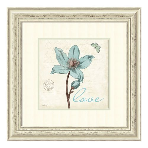 ''Touch of Love'' Floral Framed Wall Art