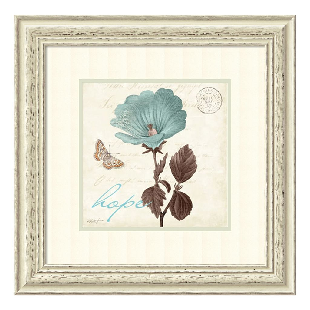 ''Touch of Hope'' Floral Framed Wall Art