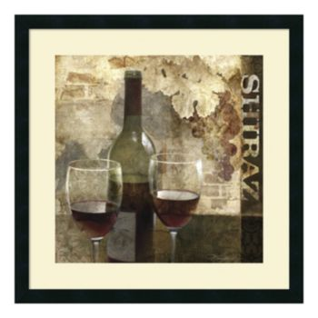 ''Shiraz'' Wine Framed Wall Art