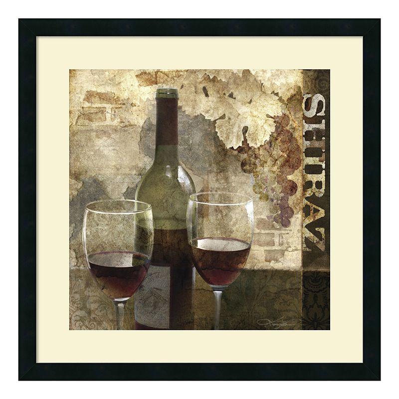 "Shiraz"" Wine Framed Wall Art, Black"