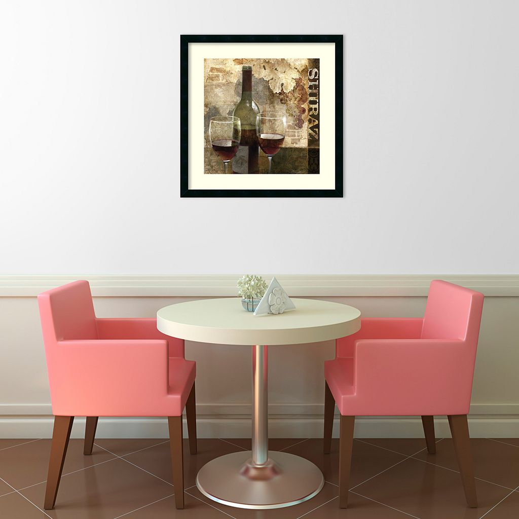 ''Shiraz'' Wine Framed Wall Art