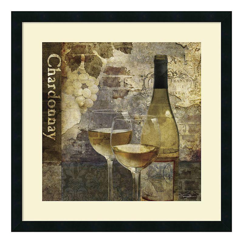 "Chardonnay"" Wine Framed Wall Art, Black"