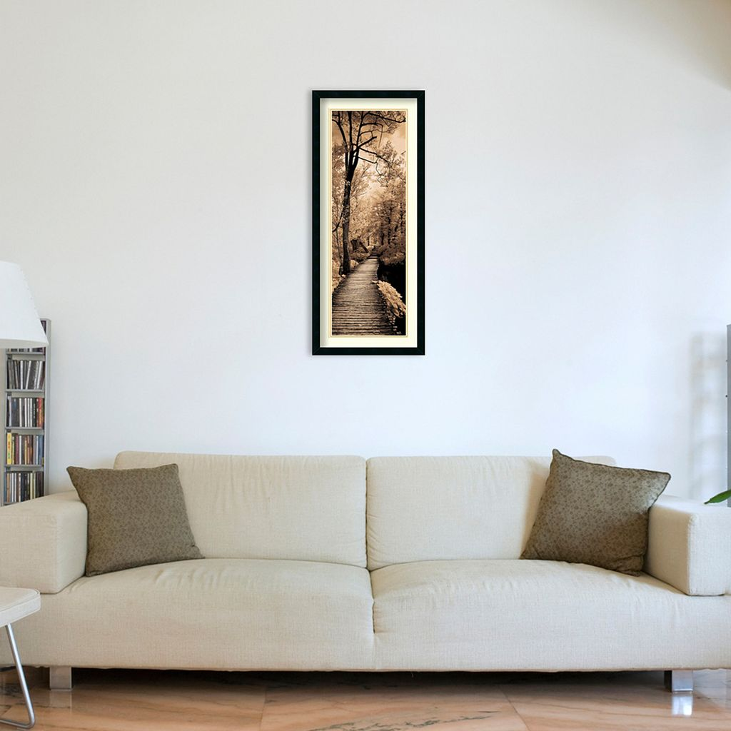 ''A Quiet Stroll I'' Framed Wall Art