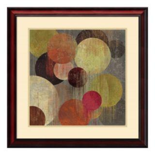 ''Magenta Bubbles I'' Circle Framed Wall Art
