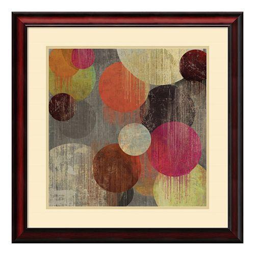 ''Magenta Bubbles II'' Circle Framed Wall Art
