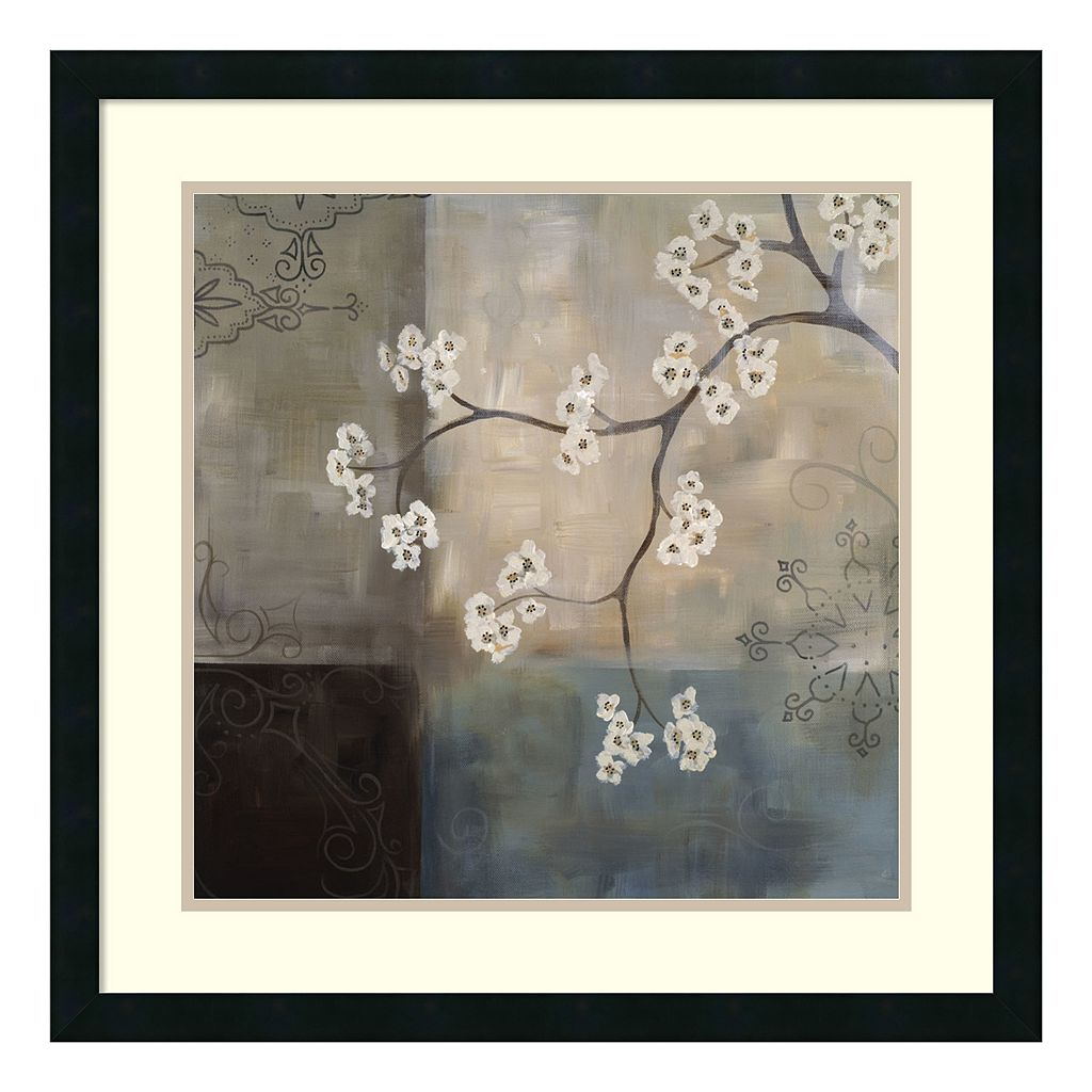 ''Spa Blossom I'' Floral Framed Wall Art