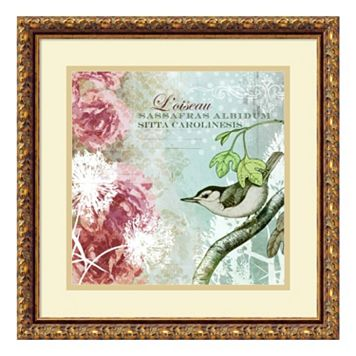 ''Tiffany Nature I'' Bird Framed Wall Art