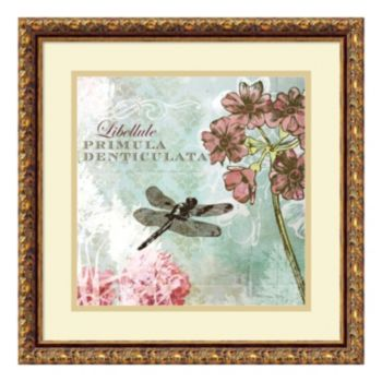 ''Tiffany Nature II'' Dragonfly Framed Wall Art