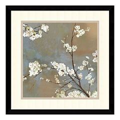 ''Ode to Spring I'' Cherry Blossom Framed Wall Art