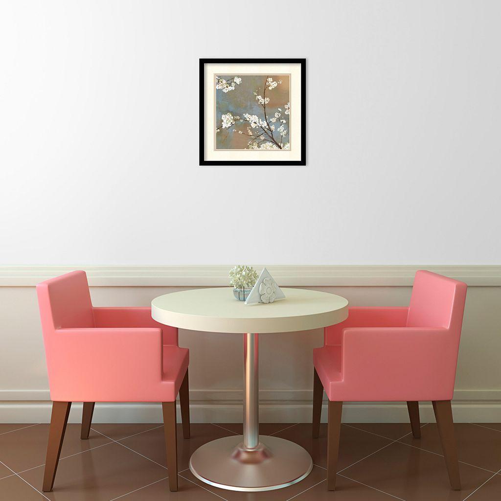 ''Ode to Spring I'' Cherry Blossom Framed Wall Art