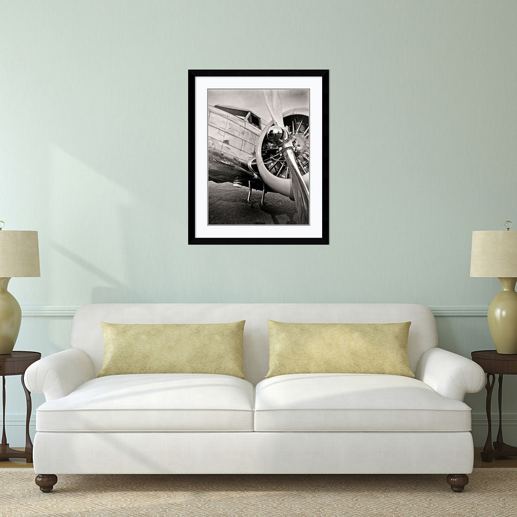 ''Lockheed 12A Electra Junior'' Plane Framed Wall Art
