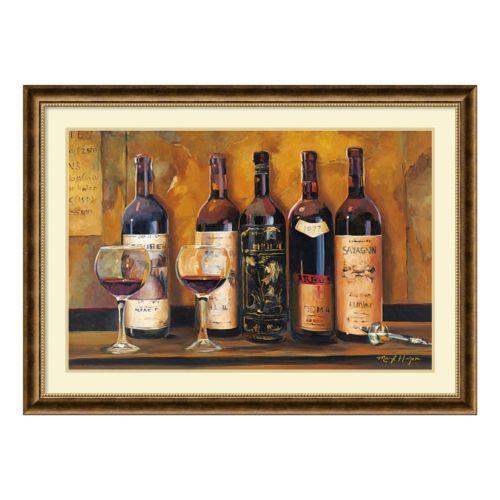 ''Cellar Reds'' Wine Framed Wall Art