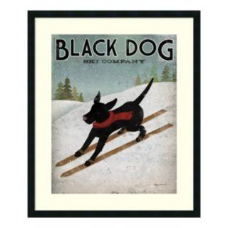 ''Black Dog Ski'' Framed Wall Art