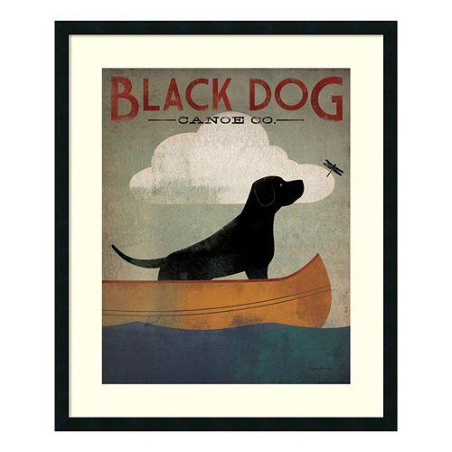 ''Black Dog Canoe'' Framed Wall Art