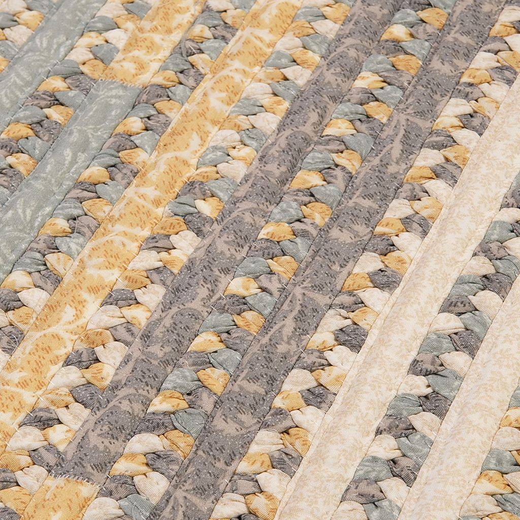 Colonial Mills Perfect Print Braided Reversible Rug - 6' x 9' Oval