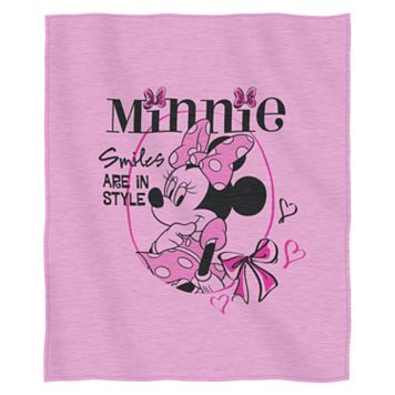 Disney Minnie Mouse ''Smiles are in Style'' Sweatshirt Throw