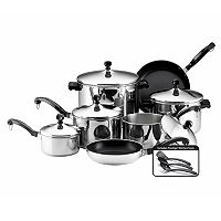 Farberware 15 pc Nonstick Stainless Steel Cookware Set