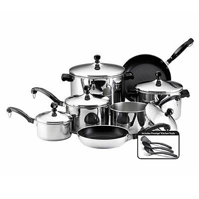 Farberware 15-pc. Nonstick Stainless Steel Cookware Set