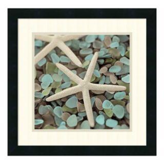 ''Aquatic I'' Starfish Framed Wall Art